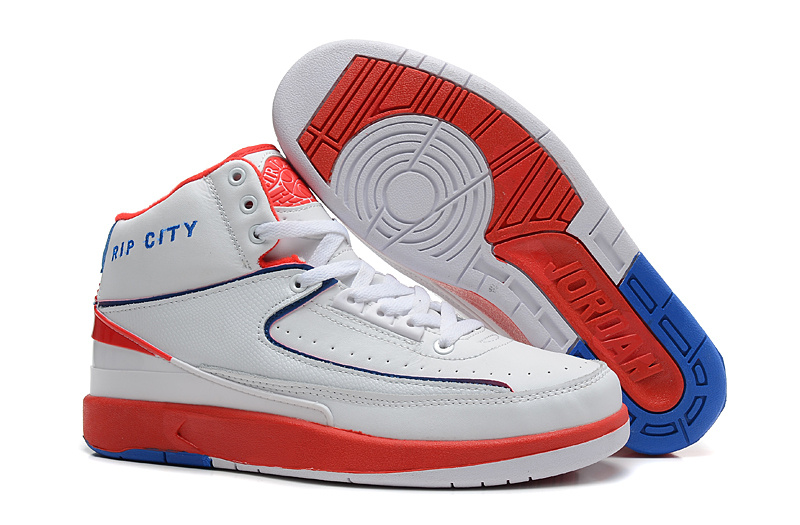 New Nike Air Jordan 2 Basketball Shoes White Red Blue