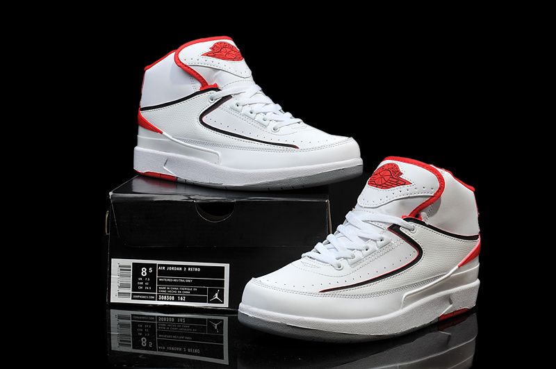 New Nike Air Jordan 2 Basketball Shoes White Red