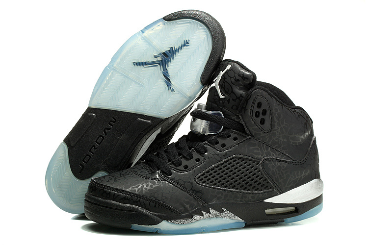 2014 Womens Air Jordan 3LAB5 Basketball Shoes Black White