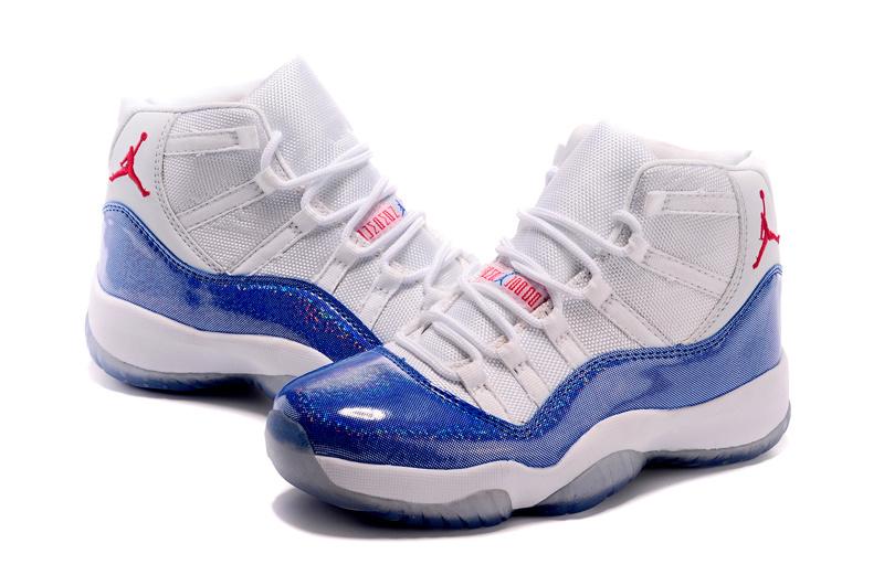 Nike's New Air Jordan 11 White Blue Shoes For Women