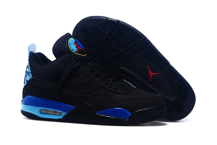 2015 Nike Air Jordan 4 And 8 Black Blue Red