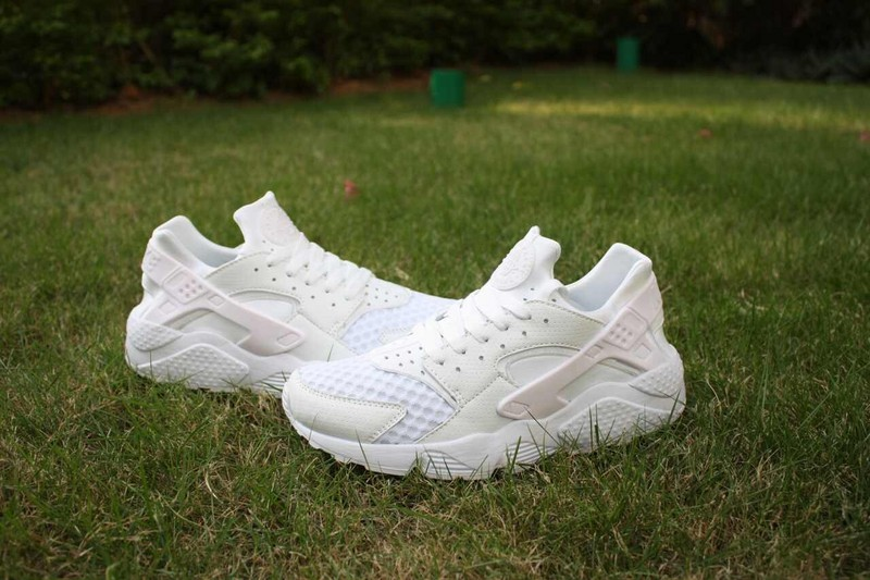 2015 Hot Nike Air Huarache All White Shoes