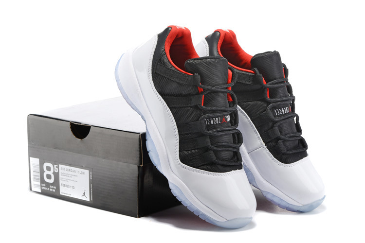 New Air Jordan 11 Low Black White Red Lover Shoes