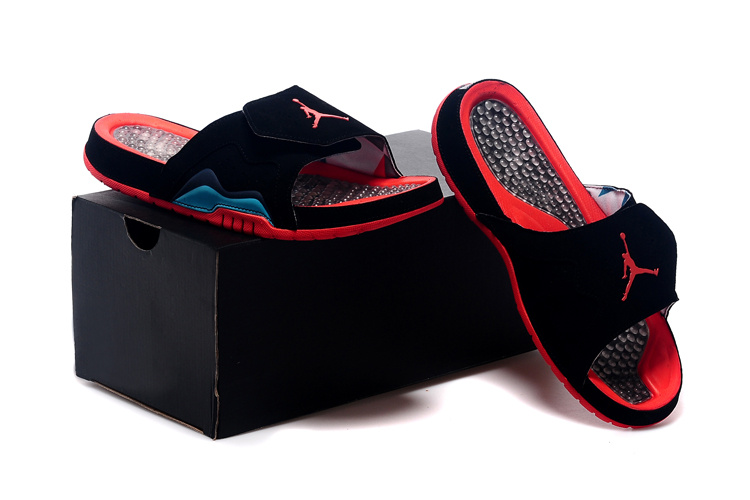 Nike Jordan 7 Hydro Hare Black Red Sandal For Women