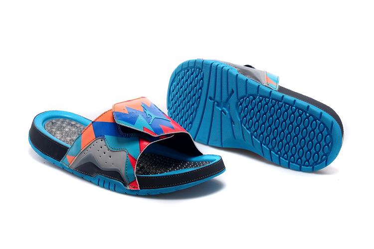 Nike Jordan 7 Hydro Hare Blue Red Black Sandal For Women