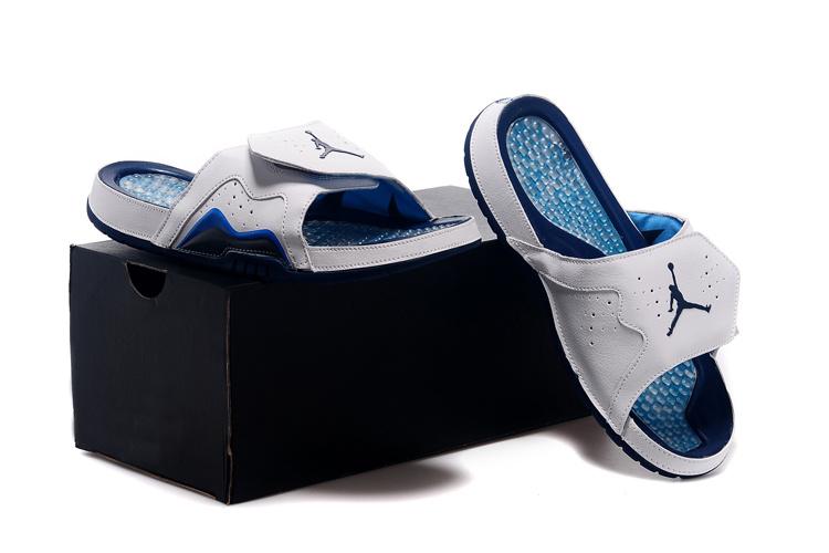 Nike Jordan 7 Hydro Hare White Blue Black Sandal For Women