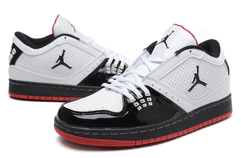 Latest Nike Air Jordan 1 Low White Black Red Shoes