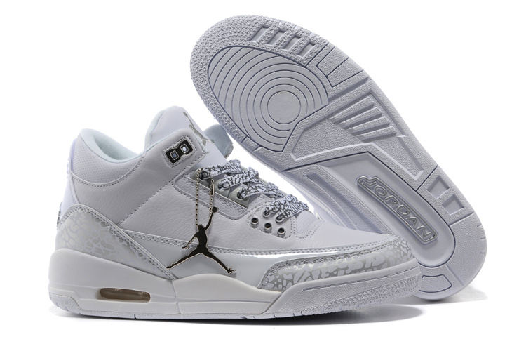 New Nike Air Jordan 3 Retro Grey Cement Shoes