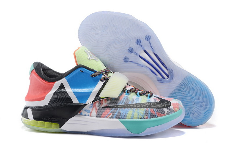 2015 New Nike Kevin Durant 7 Midnigh Colorful Shoes