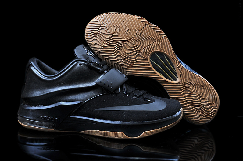 2015 Nike KD 7 All Black Basketball Shoes