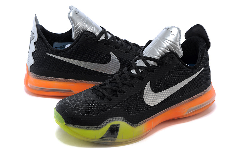 2015 Nike Kobe Bryant 10 All Star Black Silver Orange Green Shoes