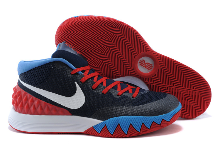 2015 Nike Kyrie 1 Blue Red White Basketball Shoes