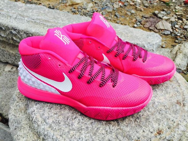 2015 Nike Kyrie 1 Pink White Basketball Shoes