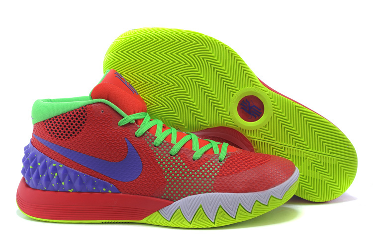 2015 Nike Kyrie 1 Red Green Blue Basketball Shoes