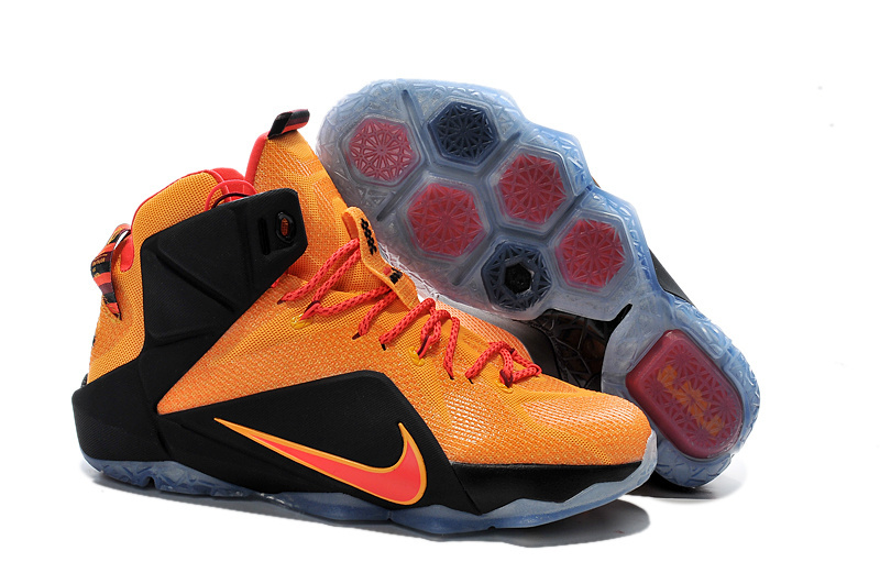2015 Nike Lebron 12 Orange Black Shoes