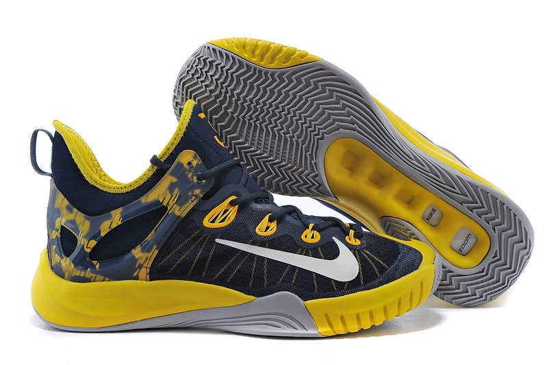 2015 Nike Paul George Team Shoes Black Yellow