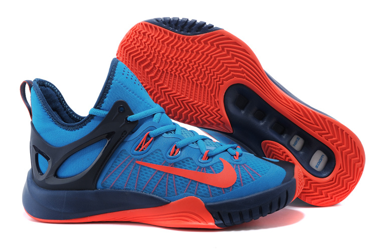 2015 Nike Paul George Team Shoes Blue Orange Black