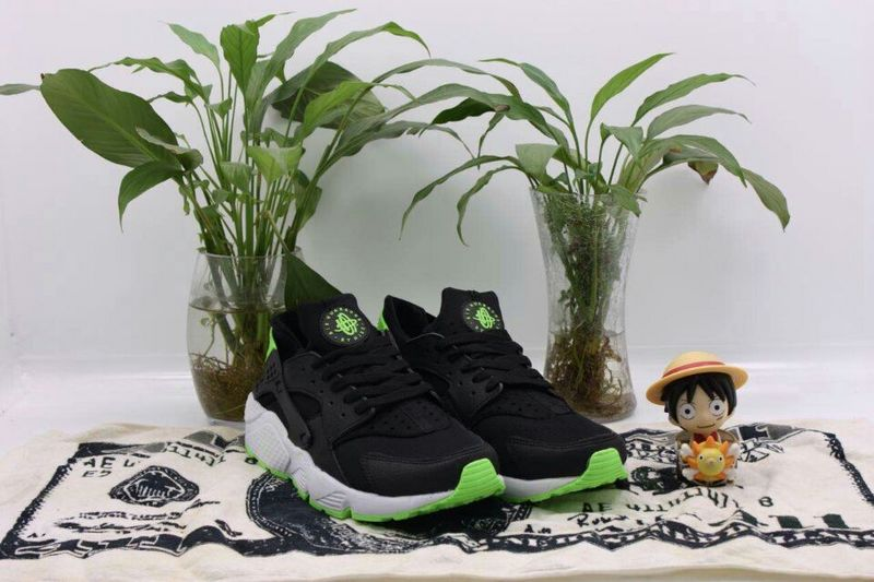 2015 Popular Nike Air Huarache Black Apple Green Mens Shoes