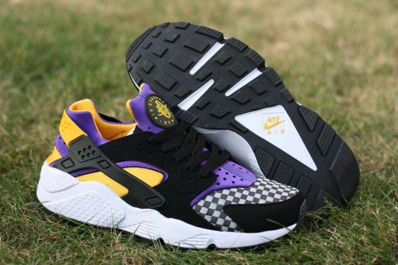 new style a539d 40095 2015 Popular Nike Air Huarache Black Purple Orange Yellow Womens Shoes