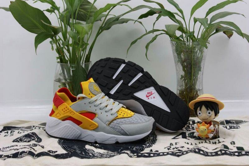 2015 Popular Nike Air Huarache Silver Grey Orange Yellow Red Shoes