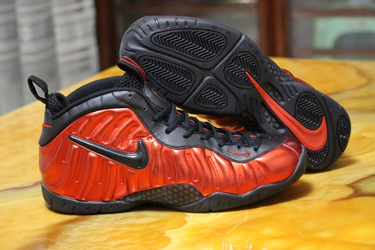 2016 Nike Air Foamposite One Red Black Shoes