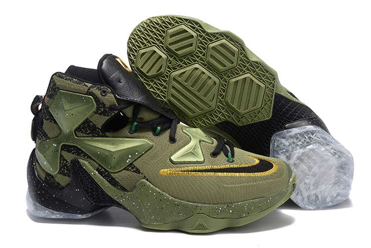 2016 Nike LeBron 13 Toronto All Star Army Shoes