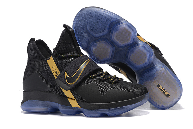 2017 Nike LeBron 14 Black Gold Shoes