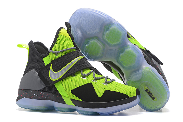2017 Nike LeBron 14 Green Black Shoes