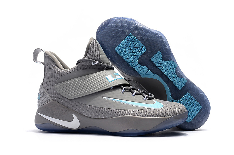 2017 Nike LeBron 14 Grey Jade Blue Shoes