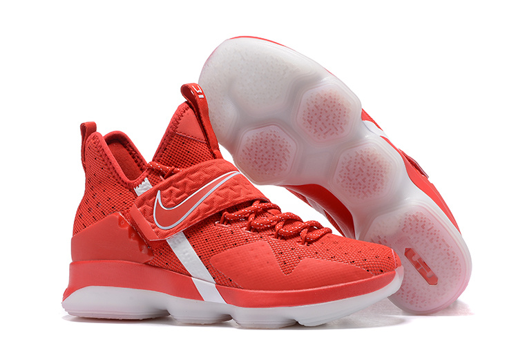 2017 Nike LeBron 14 Red White Shoes