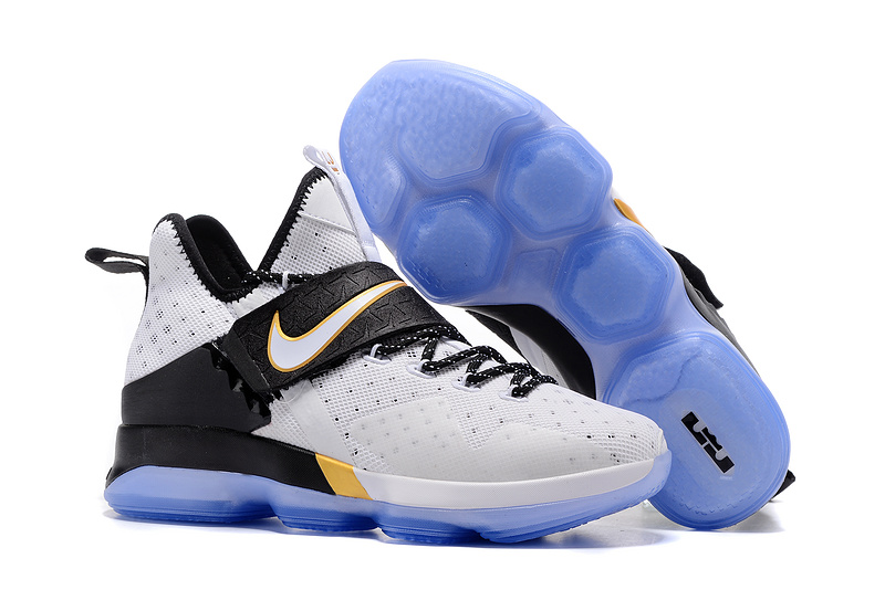 2017 Nike LeBron 14 White Black Blue Shoes