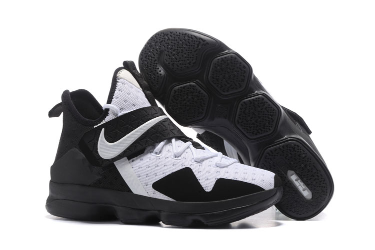 2017 Nike LeBron 14 White Black Shoes