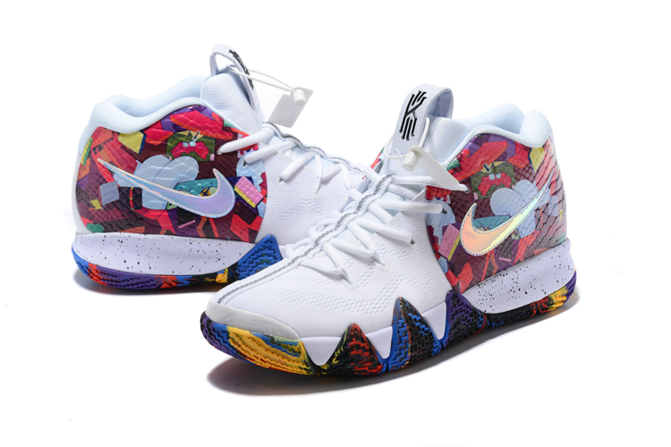 2018 nike kyrie 4 madness ncaa white multi color