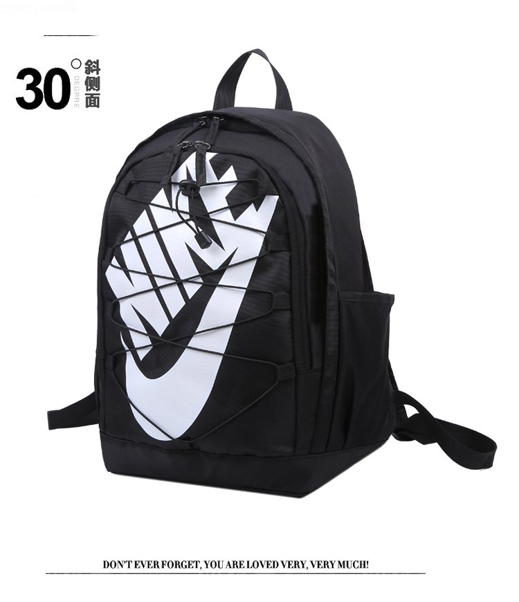 2020 Black White Nike Backpack with Swoosh