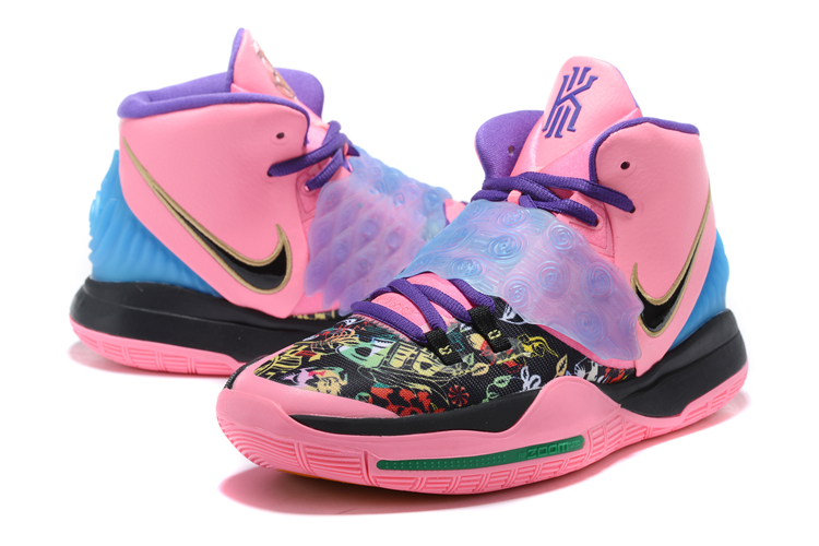 Nike Kyrie Irving 6 Pink Black Blue For Women