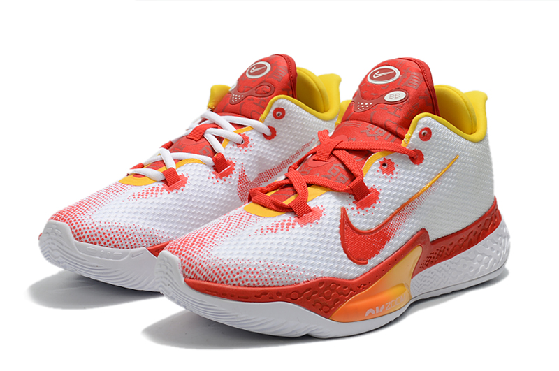 World Cup 2020 Nike Zoom White Red Orange Basketball Shoes