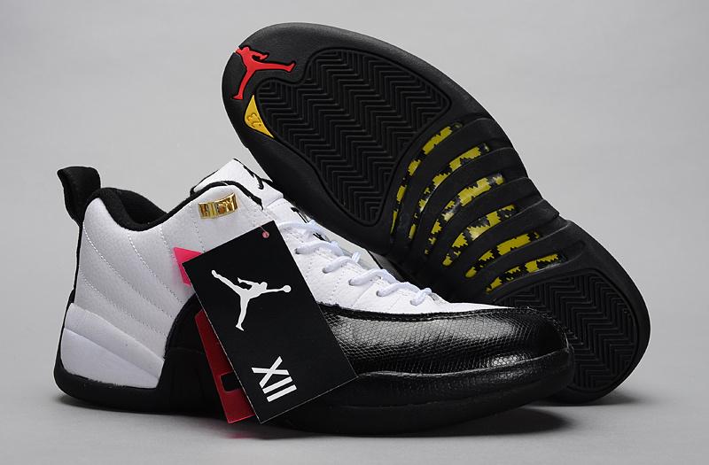 Nike Jordan 12 Low White Black Shoes