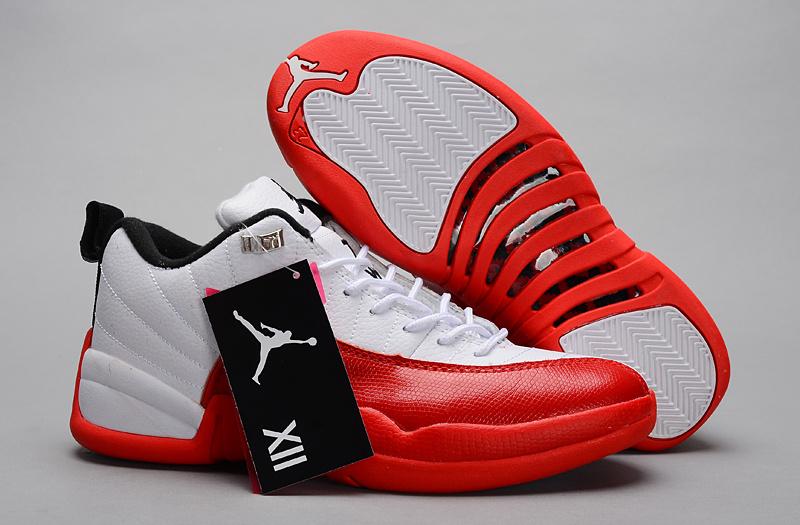 Nike Jordan 12 Low White Red Shoes