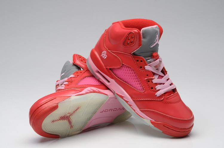 Nike Air Jordan 5 Womens Valentine Shoes Red Pink