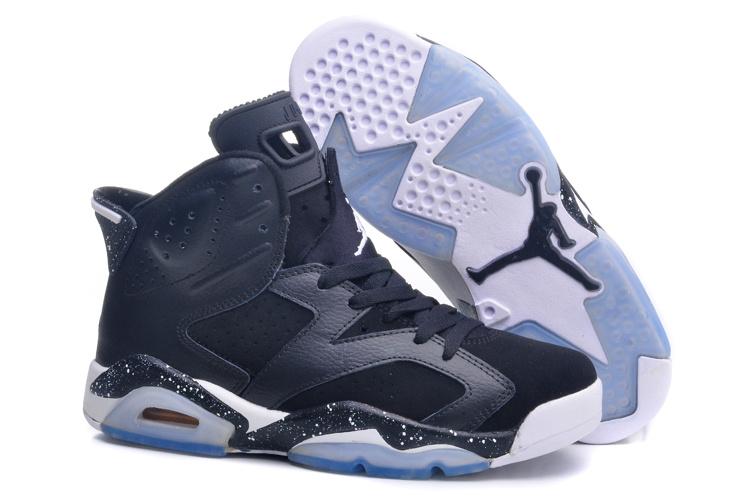 Nike Air Jordan 6 Oreo Black White For Women