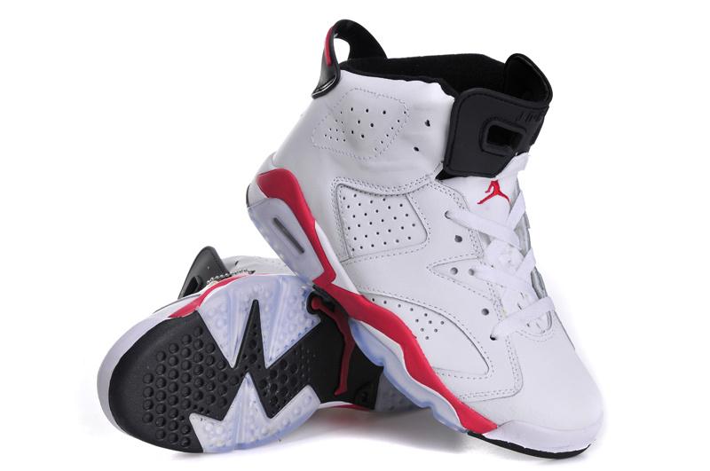 Nike Air Jordan 6 Retro Womens Shoes White Red Black
