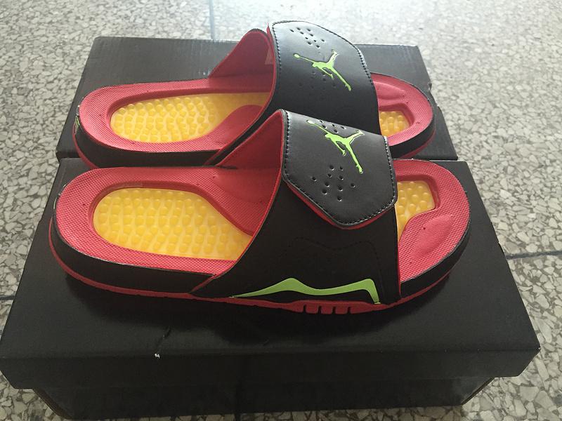 Nike Air Jordan 7 Hydro Black Red Orange For Women