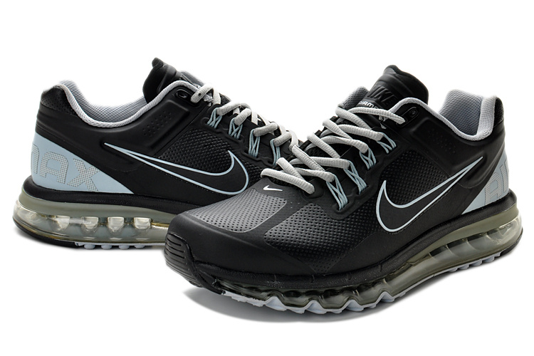 Air Max 2013 Leather All Black Shoes