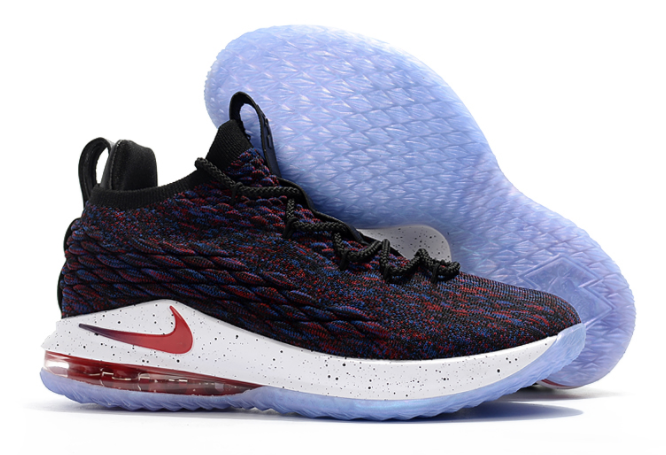 "All-Star Nike LeBron 15 Low ""Supernova"" Multicolor University Red-Black-White Shoes"