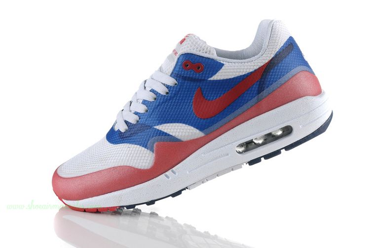 Cheap Nike Air Max 87 Womens Shoes White Blue Red