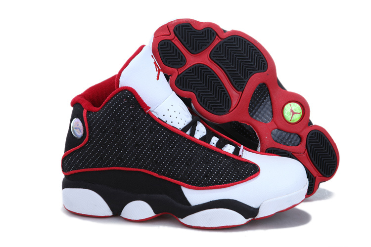 Nike Jordan 13 Womens Basketball Shoes White Black Red