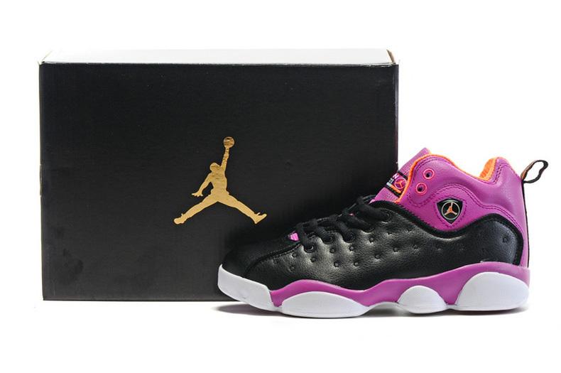 2016 Nike Jordan Team 2 GS Black Purple