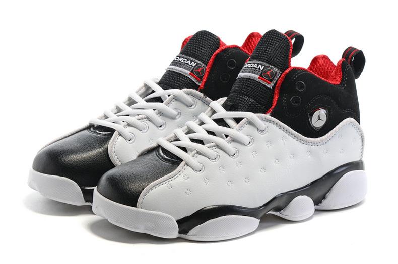 2016 Nike Jordan Team 2 GS White Black Red