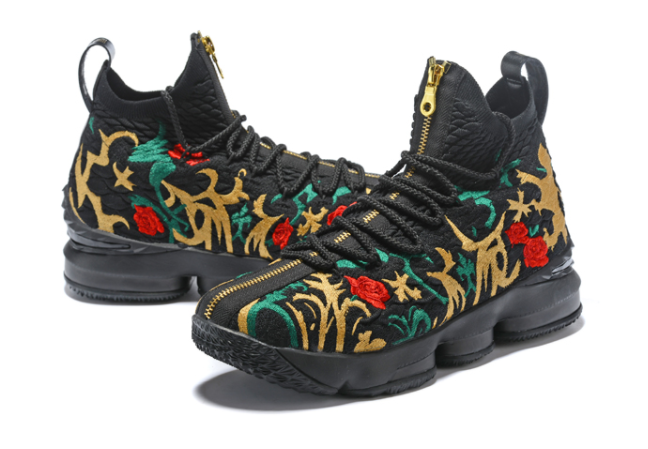 "KITH x Nike LeBron 15 ""King's Crown"" Long Live The King Black Multi-Color"