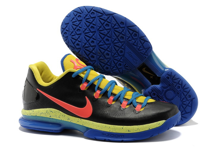 Nike Kevin Durant 5 Low Black Blue Yellow